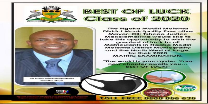 Makolomakwa Wishes the Matric Class of 2020 best of luck